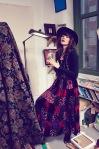 velvet gypsy skirt