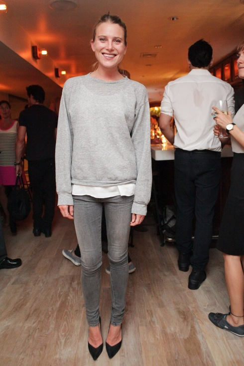 Dree-Hemingway-looked-cool-casual-East-Pole-launch-event